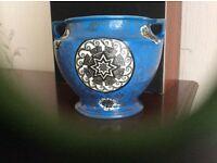 Blue antique vase
