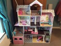 5 foot dolls house with furniture