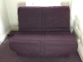 Folding small double sprung mattress and cover for Slumberland sofa bed. No frame.