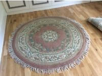 Rug - circular Indian wool