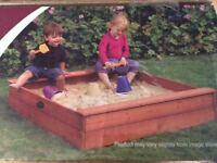 Plum NEW!! square wooden sandpit (25055) - RRP £60