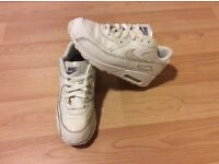 KIDS NIKE AIR MAX 90 PS WHITE TRAINERS SNEAKERS UK SIZE 2