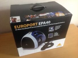 Behringer EPA40 Europort Hand-held PA System (NEW unused, still boxed)