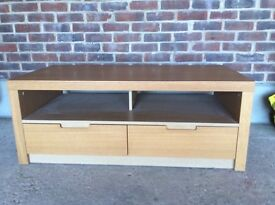 Oak TV stand. Excellent condition.