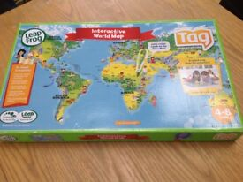 Leap Frog tag reading interactive world map