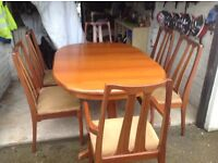 SIX CHAIR DINING SET BY NATHAN ideal for XMAS -can deliver