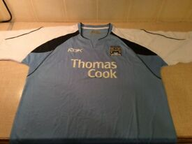 MANCHESTER CITY 2006/2007 HOME STRIP FOOTBALL SHIRT SIZE LARGE 42/44