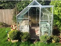 "Aluminium Greenhouse - free to anyone who will disassemble it and take it away. L100""xW75""xH80"""