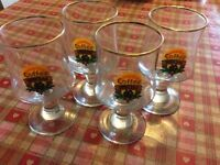 Four vintage coffe glasses