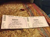 2x seated tickets East Balcony For Gorillaz @ Brighton Centre Mon 27th Nov