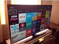 SAMSUNG 50-Inch 50KU6000 SMART 4K ULTRA HD LED TV with Built-in Wifi,Freeview HD,Netflix, 2016 model