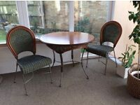 Table and two matching chairs
