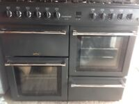 Belling country100 g range cooker two ovens. Grill hob eight gas burners