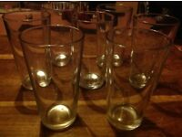 7 Matching Pint Glasses