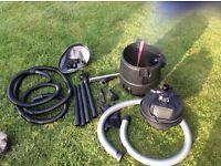 Pond vacuum and accessories