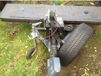 Towing dolly braked,ramps,spare wheel etc