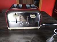 Brand New 4 slice Red Toaster