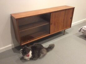 1960s vintage sideboard/bookcase (teak) 137x70x28cm great condition for age, only slight wear