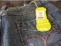 Ladies new jeans size 16