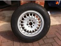 BMW alloy wheel and Michelin tyre