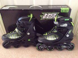 Inline adjustable roller skates size 4 - 6.5 - worn once