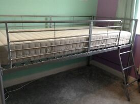 Mid sleeper bed and mattress. Excellent condition and easy to assemble.