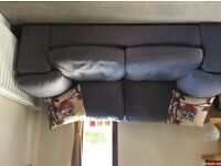 Grey 2 seater sofa and armchair for sale