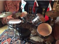 Mapex drum kit, full with black panther and seat, sticks and bags