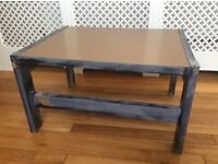 Vintage/retro table with Formica top coffee/lamp/side table grey/brown