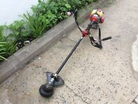 MTI Mitsubishi T200 commercial petrol long reach grass strimmer 4 string large head. Harness/ handle