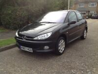Peugeot 206 1.4, 5dr, Full years MOT with no advisories, 2007