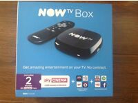 Brand New Now TV Boxes with 2 Months Sky Cinema Passes