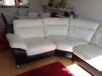 Leather corner sofa. Excellent condition. Pet,smoke and child free home. 2 years old