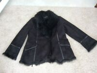 Lady's size Large faux suede/fur fashionable jacket be Centrigrade
