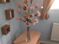 Long Vase with Flowers