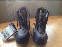 Orvis streamline felt sole wading boots, size 8, new with labels still attached