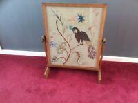 Antique tapestry firescreen