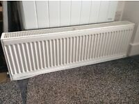 Double central heating radiator 30cms high x 1mtr wide/long