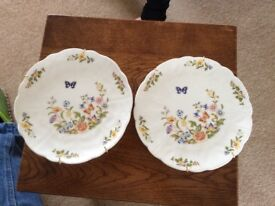 Pair of collectible Ainsley plates