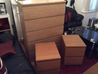 Chest of draws, with bedside cabinets, vgc could deliver