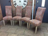 John Lewis, Set Of Four 'Luxury' Dining Chairs. Unused !!