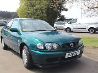 2001 Toyota Corolla 1.4 GS VVTI mot until Dec superb condition inside and out