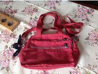 Medium Kipling bag, red, excellent condition