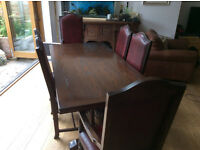 Jaycee oak extending refectory table