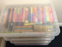 Large plastic box of girls/teenage/young adult books