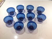 10 blue plastic dishes/bowls, used once only for sweets at a party. Good condition £4