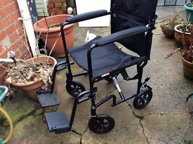 Wheelchair. Very light. Folding to fit any car. VGC.
