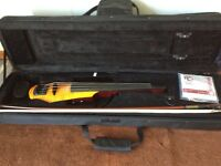 NS Design WAV 4 electric / silent violin with bow, case, tuner, metronome etc