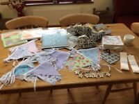 Wedding/Celebrations Decorations, Pom Poms, Bunting, Hanging Hearts etc loads of items