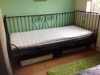 Ikea Day Bed, Matress and Matress Topper